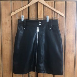 7 For All Mankind Faux Leather Mini